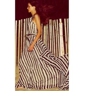 Parker Striped Pleated Dress.